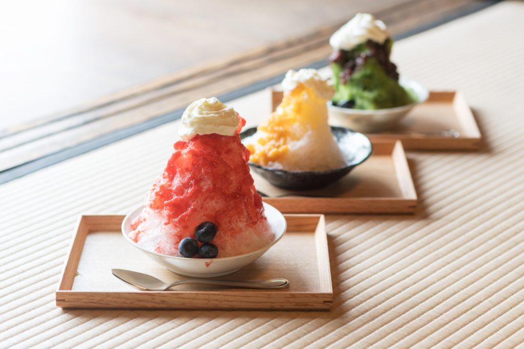 夏季限定の古民家カフェ「高萩茶寮」のかき氷