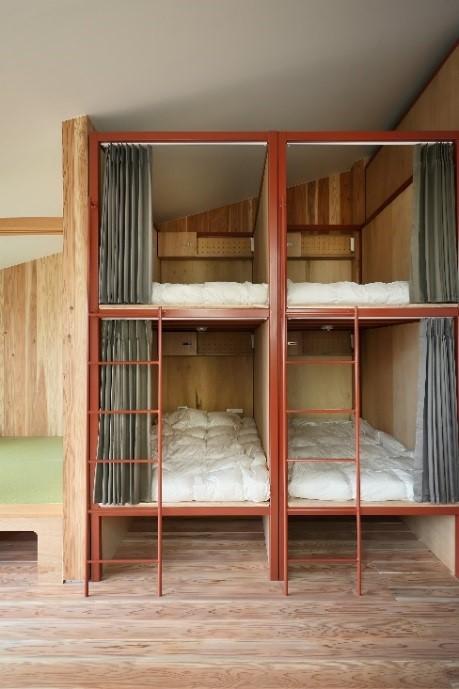 国産材を利用した京都市東山区のデザインホステル「器」