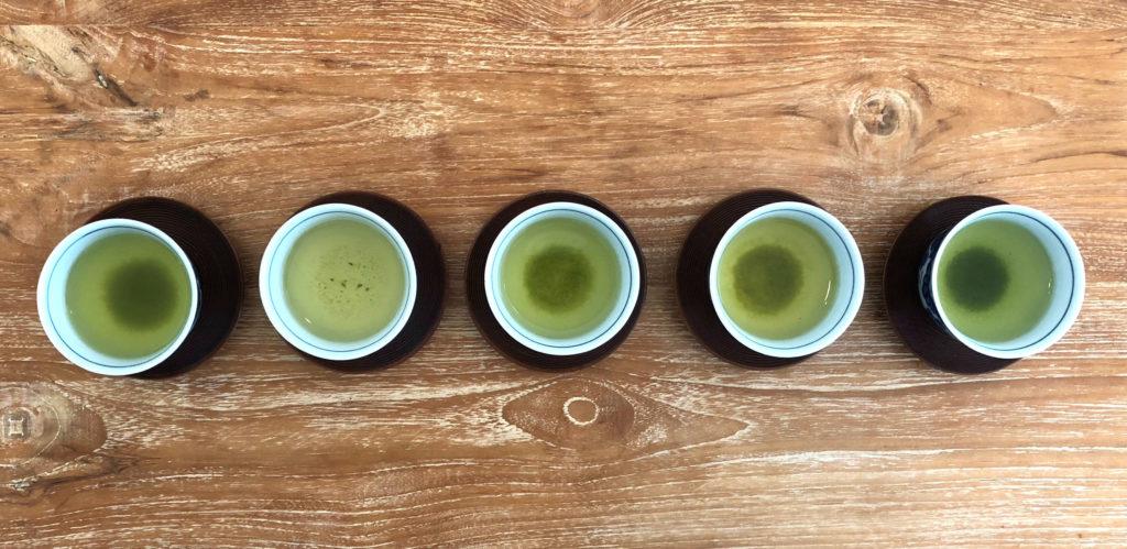 日本茶・緑茶・煎茶の飲み比べ 色の比較