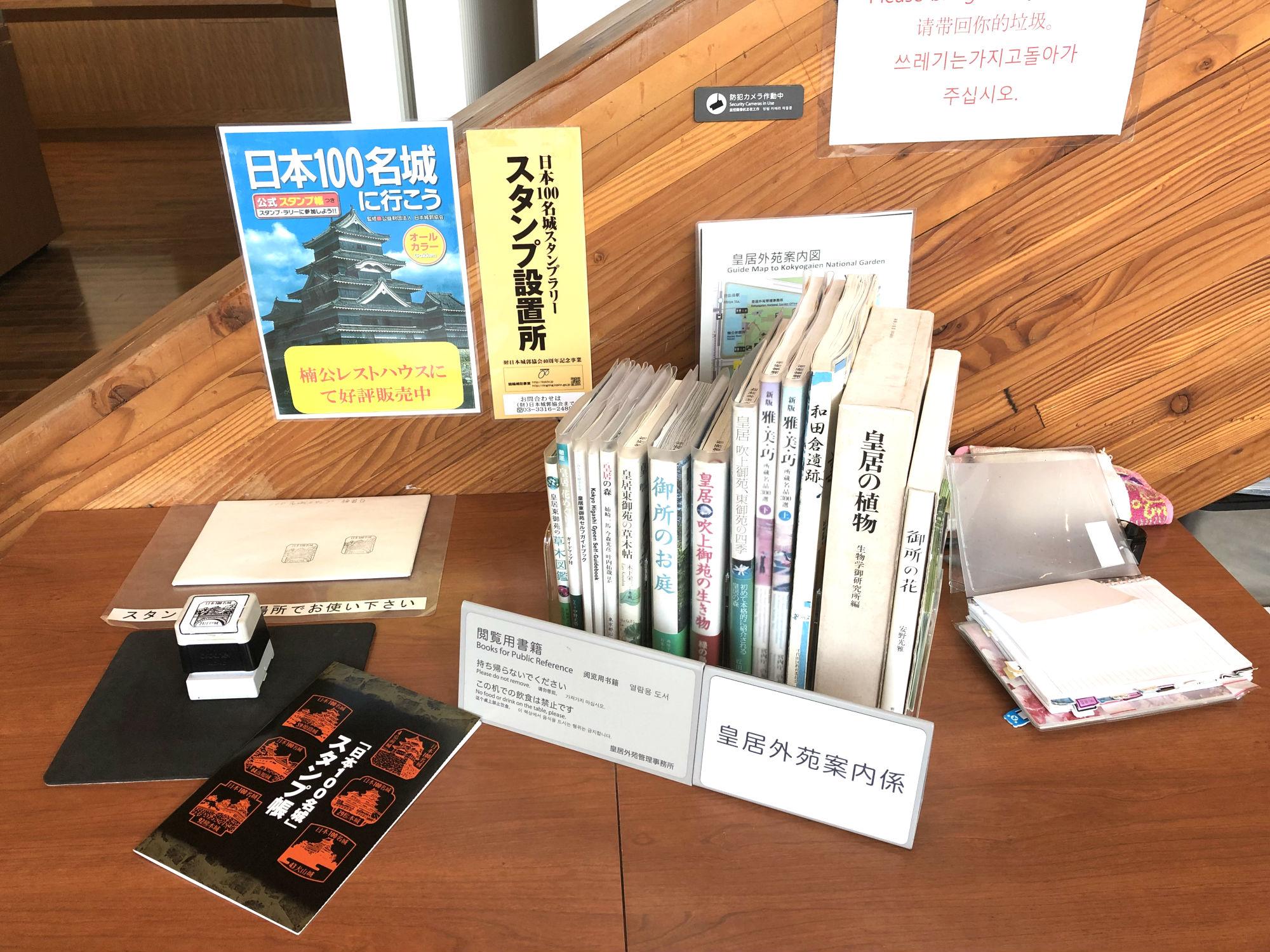 日本100名城スタンプラリー 江戸城スタンプ台