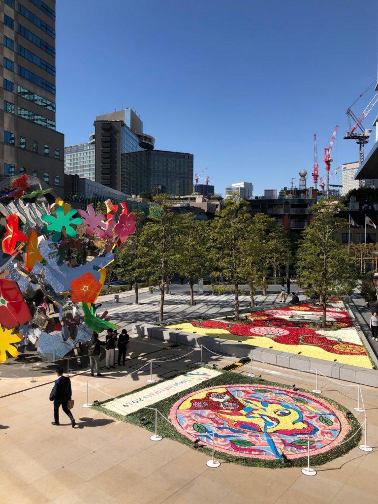 東京をキャンパスに花のウエルカムカーペット「インフィオラータ2019」開催
