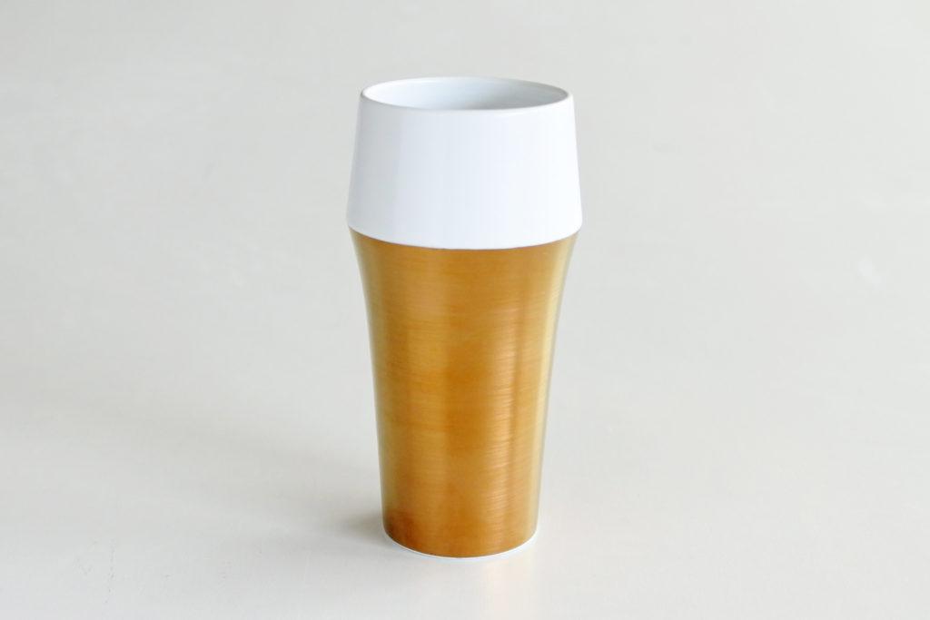 「ビール」に見える 本物の金を使った有田焼プレミアムビアカップ