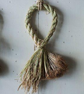 2020年の正月飾り~「くらしのギャラリー」の根付き穂付きの注連縄
